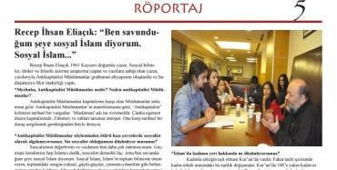 Kültürsüz Öğrenci Dergisi söyleşisi